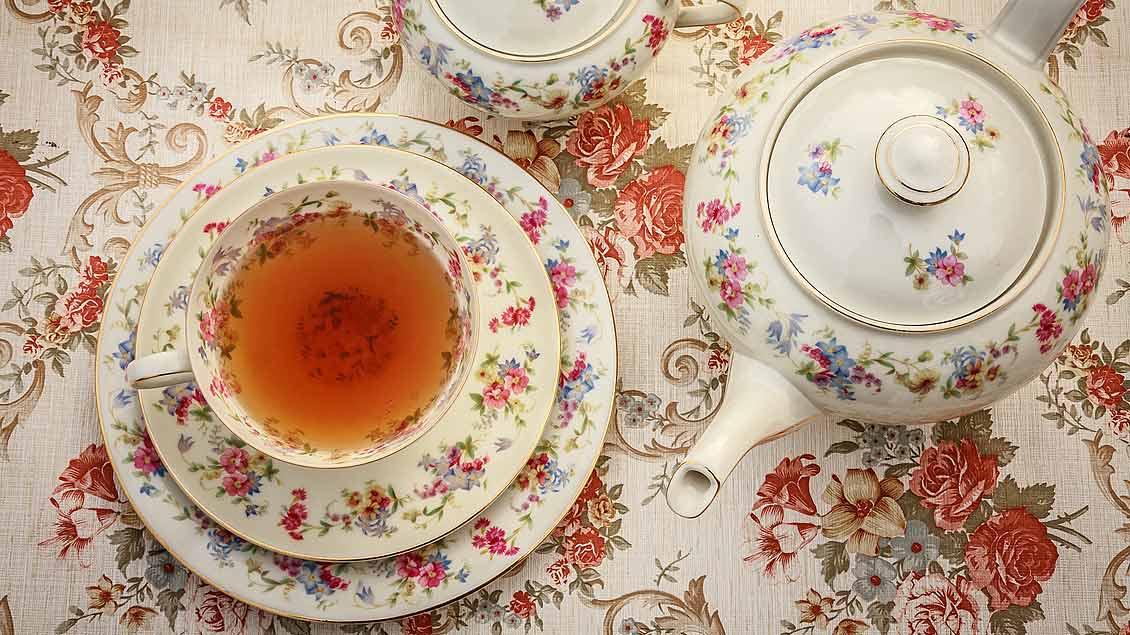 Ein englisches Teeservice