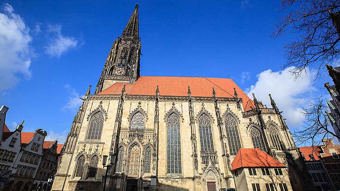 Die St. Lamberti-Kirche in der Innenstadt von Münster