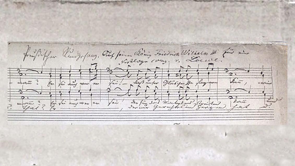 Ein Detail der gefundenen Noten-Handschrift