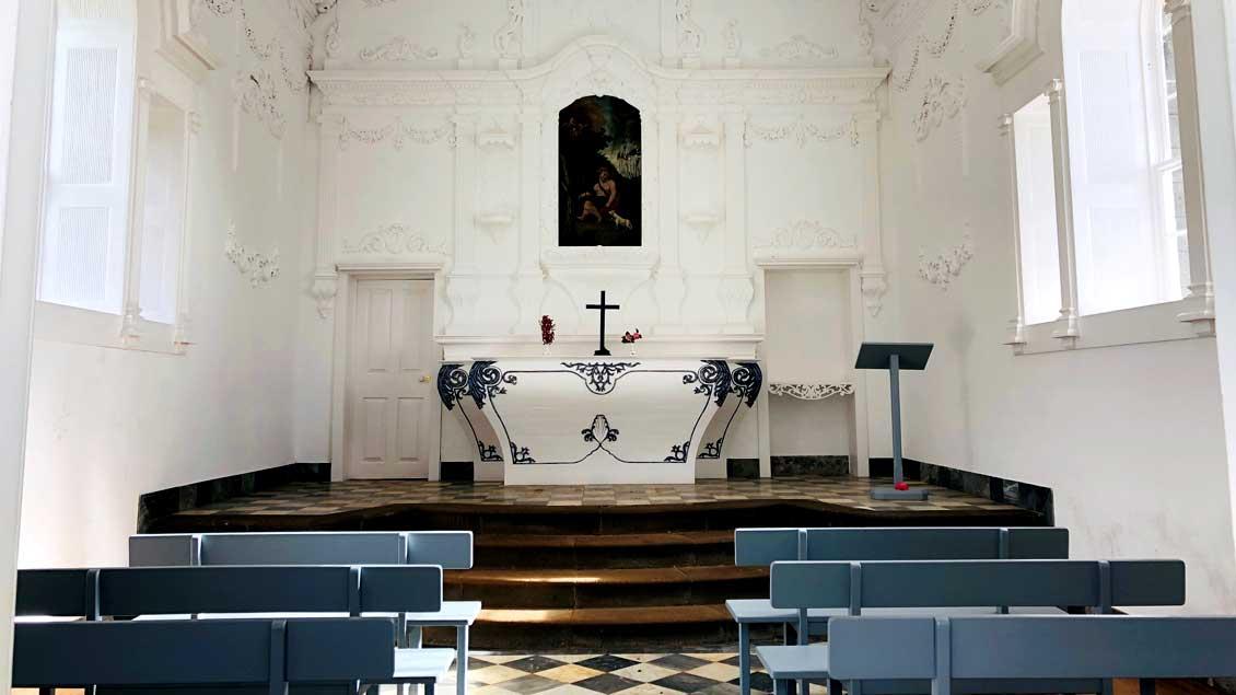 Kleine Barock-Kapelle auf der portugiesischen Insel Madeira.