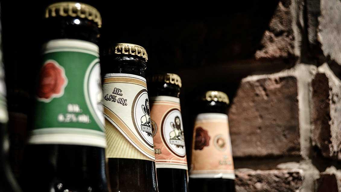 Mehrere Bierflaschen