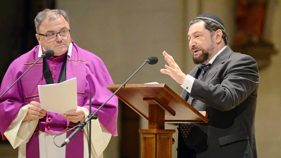 Moshe Navon und Hans-Bernd Köppen im Dialog im Dom in Münster