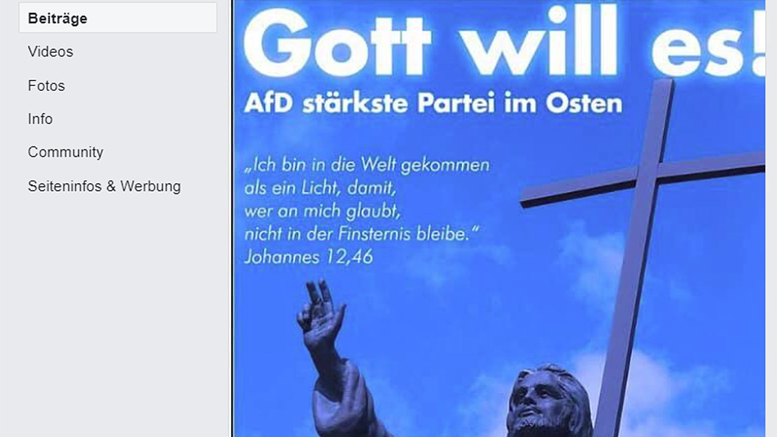 Skreenshot des Facebook-Post des AfD-Kreisverband Saalekreis