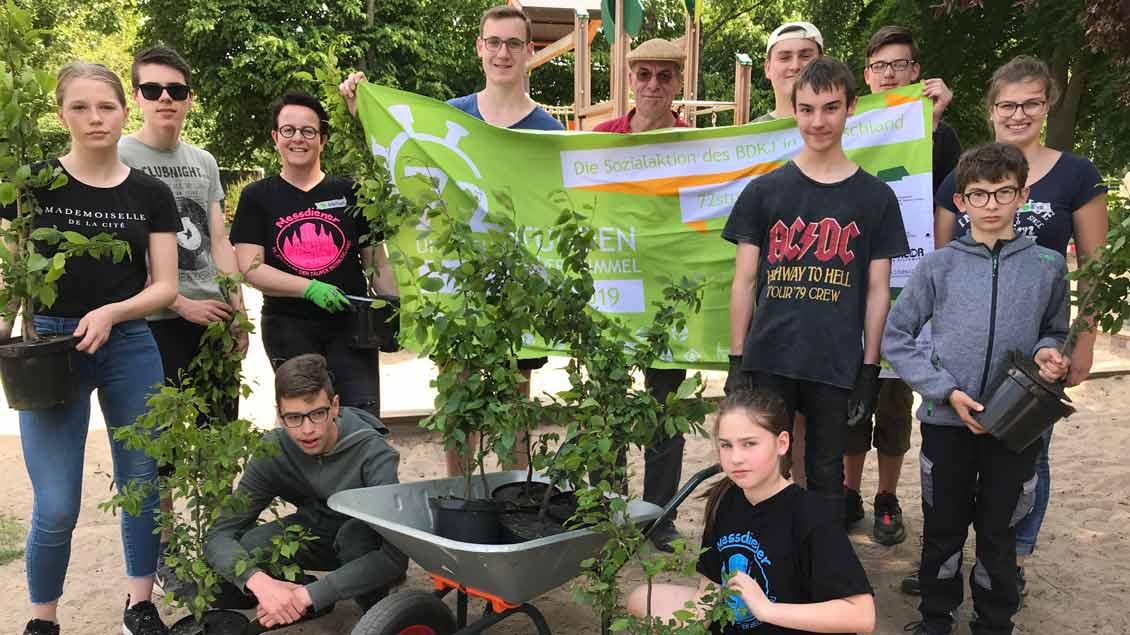 72-Stunden-Aktion: Kindergartengarten in Bedburg-Hau
