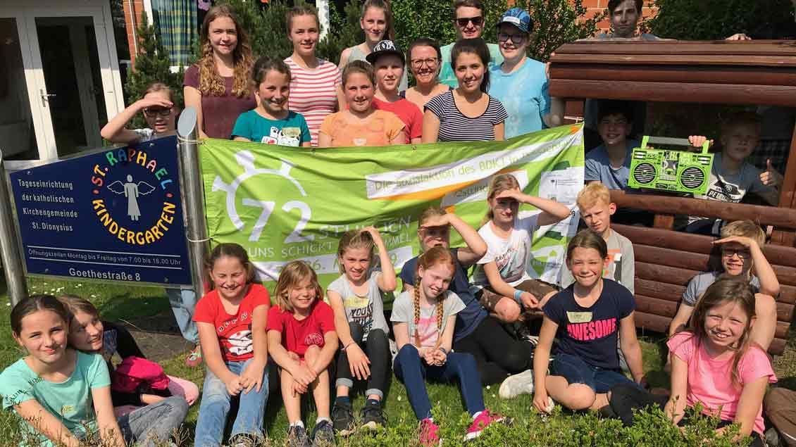 72-Stunden-Aktion: Taststraße in Kerken