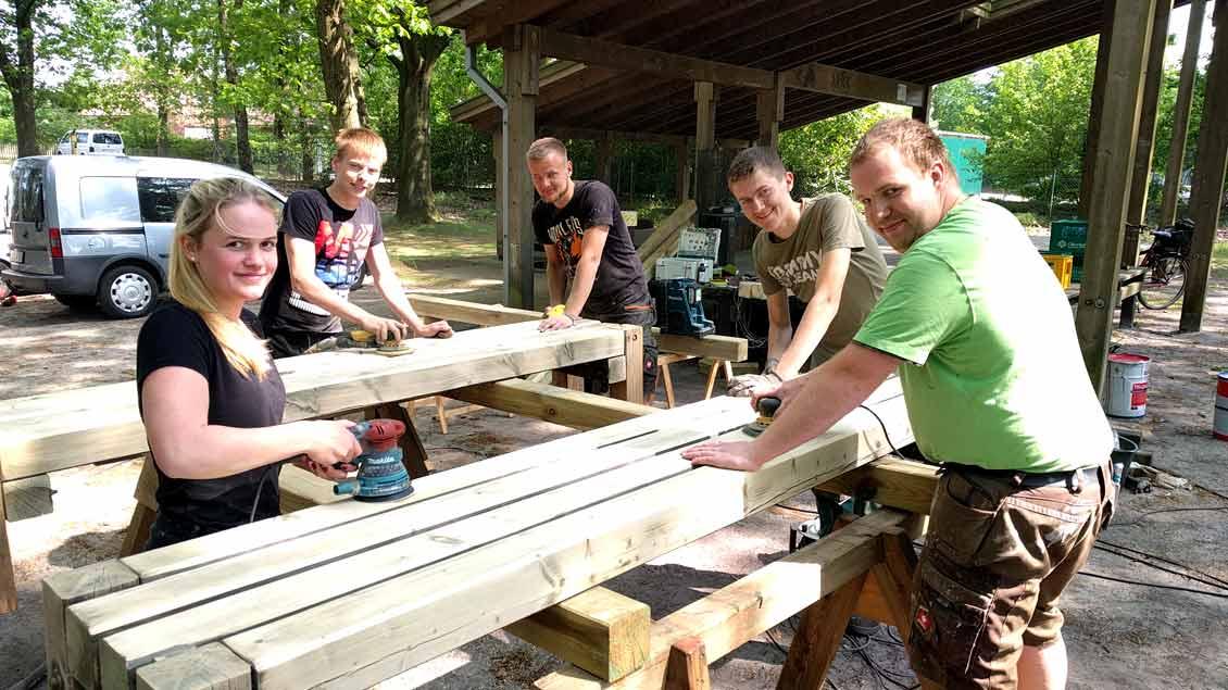 Camping-Kirchplatz in Thüle saniert