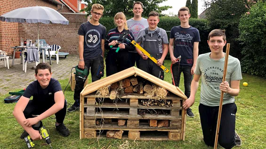 72-Stunden-Aktion: Insekten-Hotel in Ahlen-Vorhelm