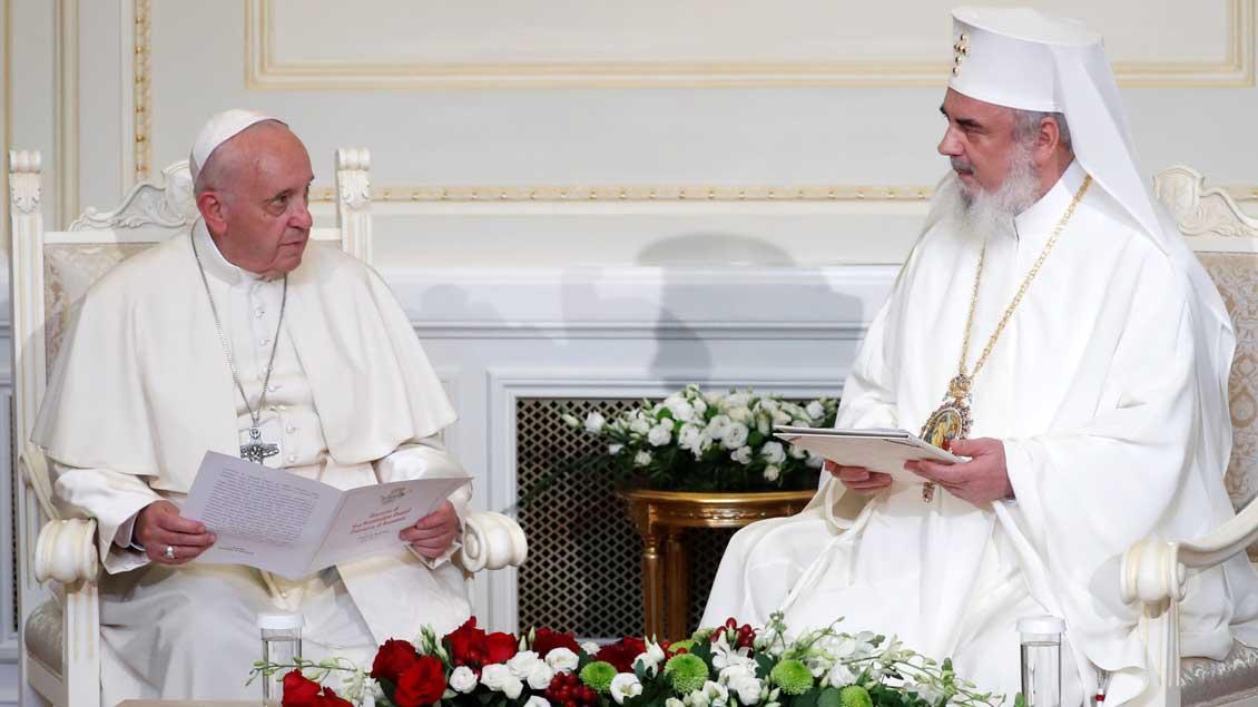 Franziskus und Patriarch Daniel