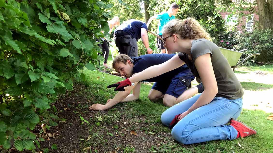 72-Stunden-Aktion: Spielplatz aus Pfarrers Garten in Ostbevern