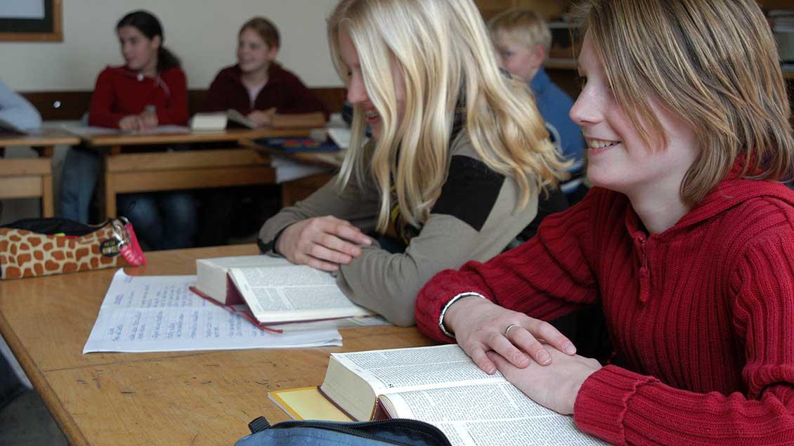 Schüler im Religionsunterricht