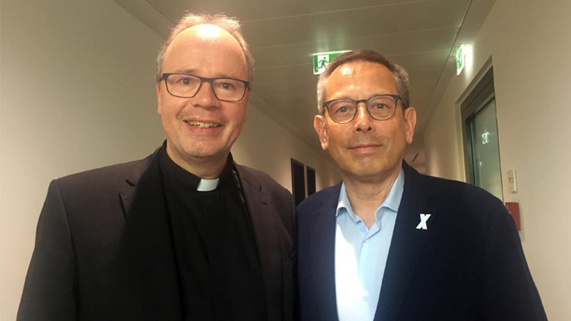 Bischof Stephan Ackermann und Johannes-Wilhelm Rörig