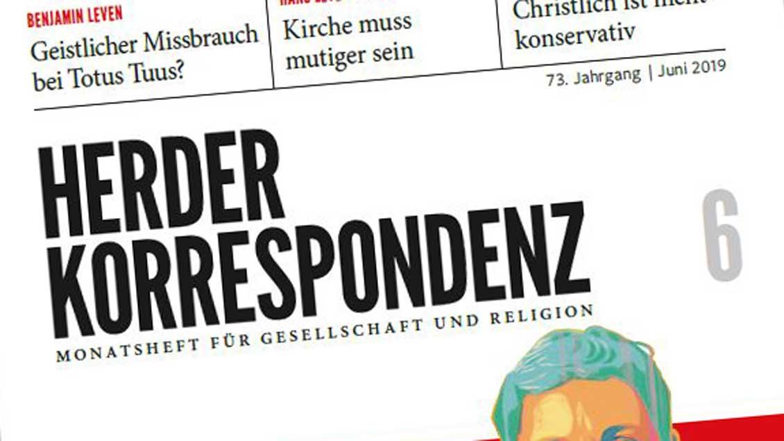 """Die Titelseite der """"Herder Korrespondenz"""""""