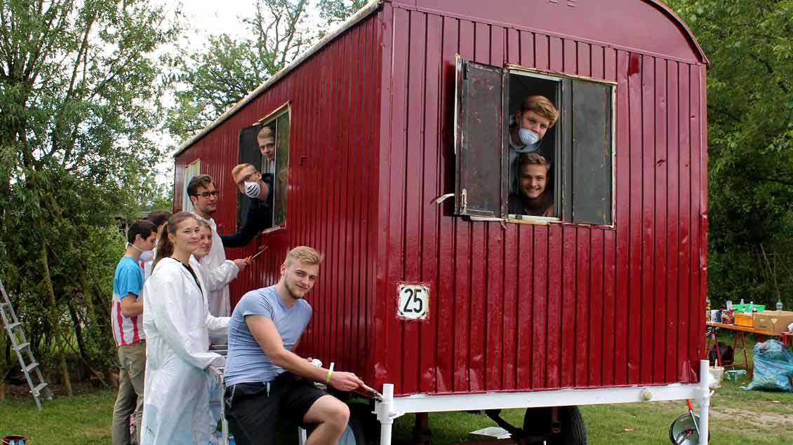 72-Stunden-Aktion: Bauwagen in Münster-Kinderhaus