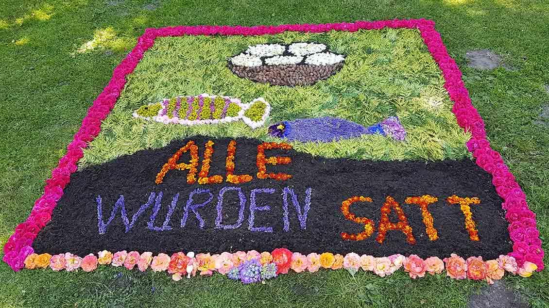 An diesem Blumenteppich in Lienen ... | Foto: Martin Licher