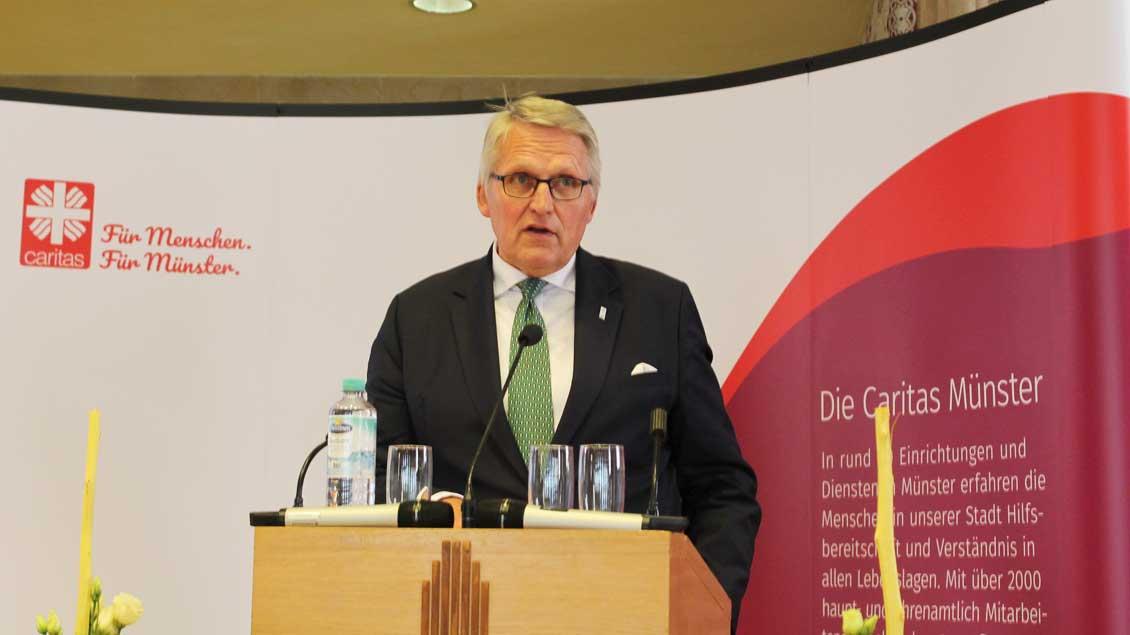ZdK-Präsident Thomas Sternberg hält die Festrede.