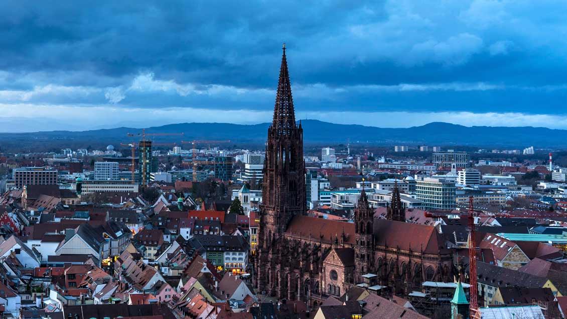 Blick über Freiburg mit dem Freiburger Münster