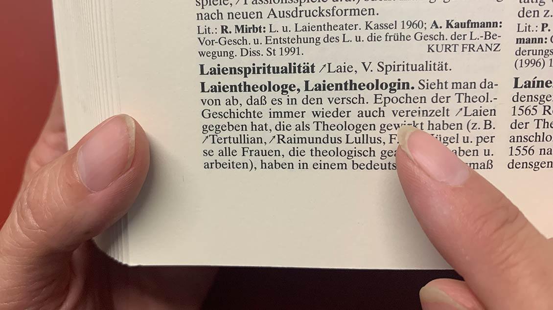 Lexikoneintrag Laientheologe
