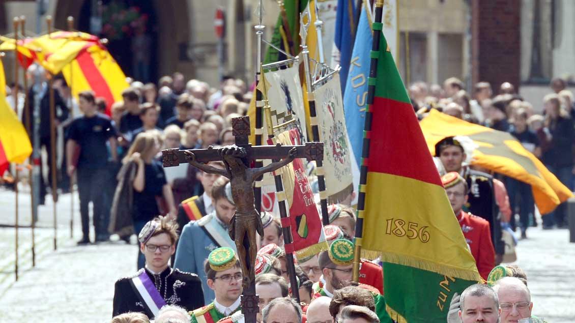 Große Prozession in Münster Archiv-Foto: Michael Bönte
