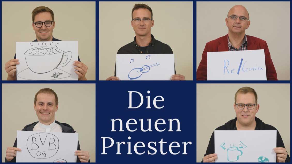Die fünf neuen Priester im Bistum Münster werden im Porträt gezeigt.