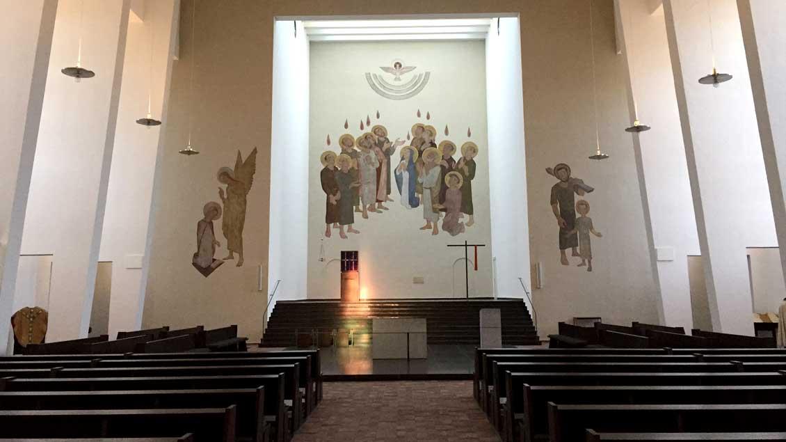 Blick in die Heilig-Geist-Kirche in Münster