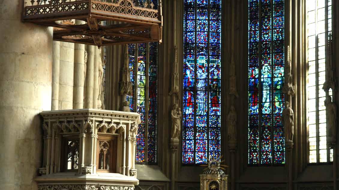 Kanzel in St. Lamberti Münster Foto: Michael Bönte