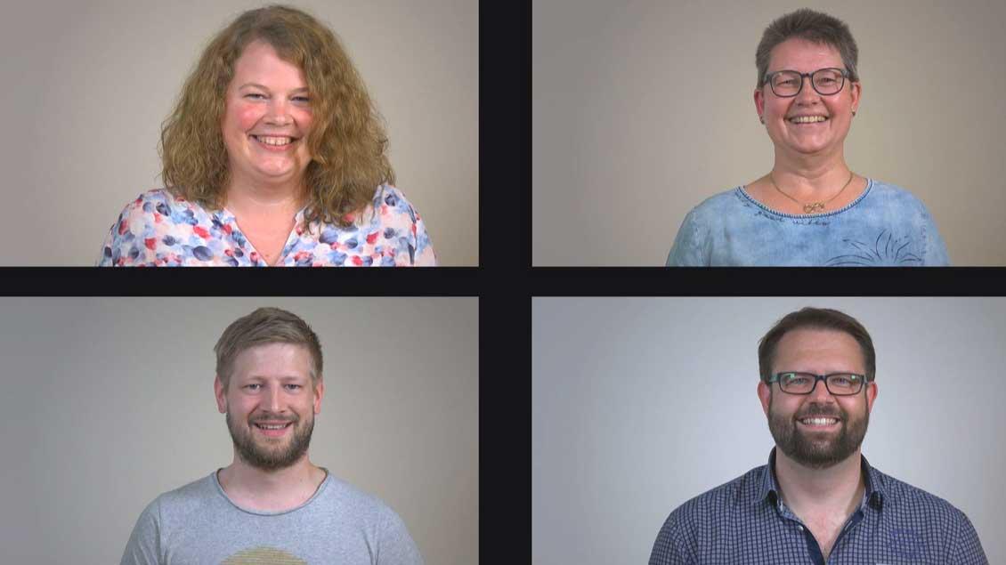 Die neuen Pastoralreferenten Bastian Rütten, Sven Tönies, Andrea Greshake und Franziska Wolking.