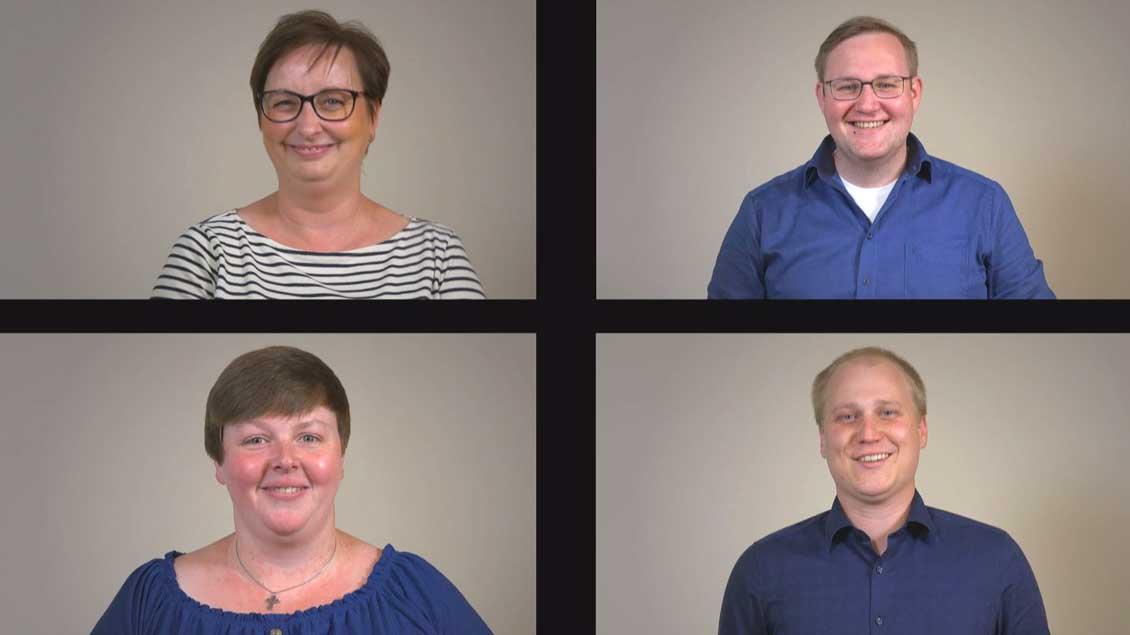 Die neuen Pastoralreferenten Tanja Gamers, Claudia Schmeing, Thomas Klümper und Daniel Mittelstaedt.