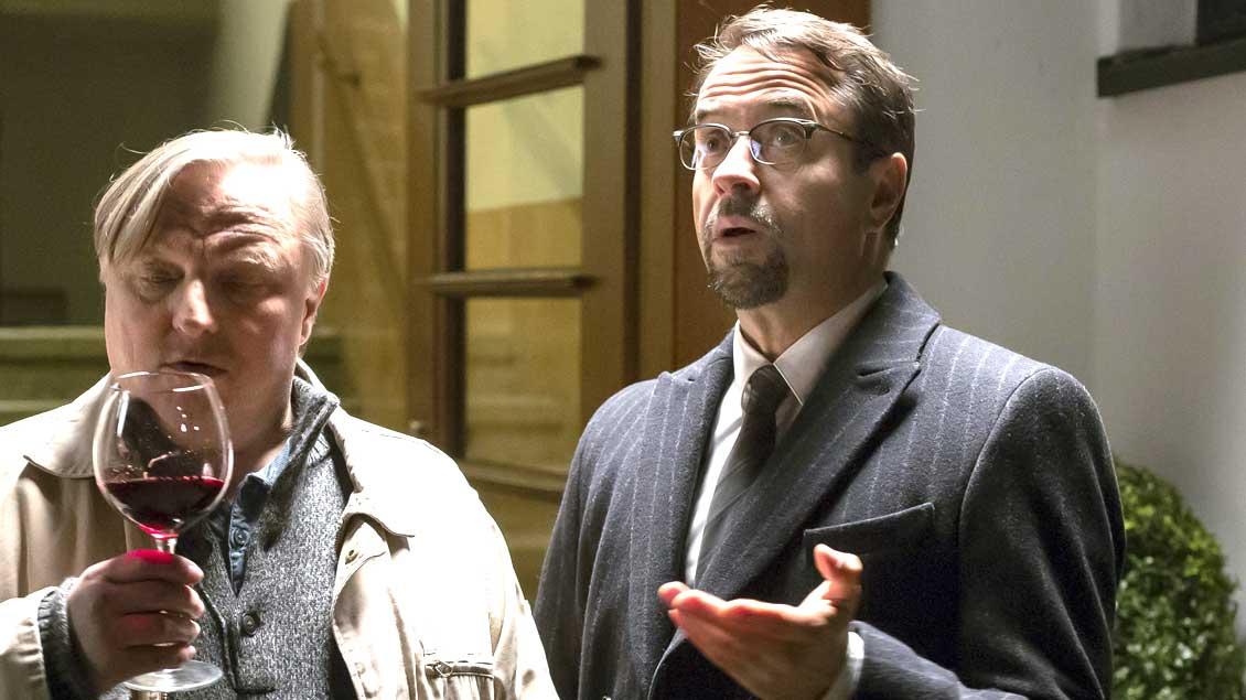 Jan Josef Liefers als Professor Boerne mit Axel Prahl als Kommissar Frank Thiel