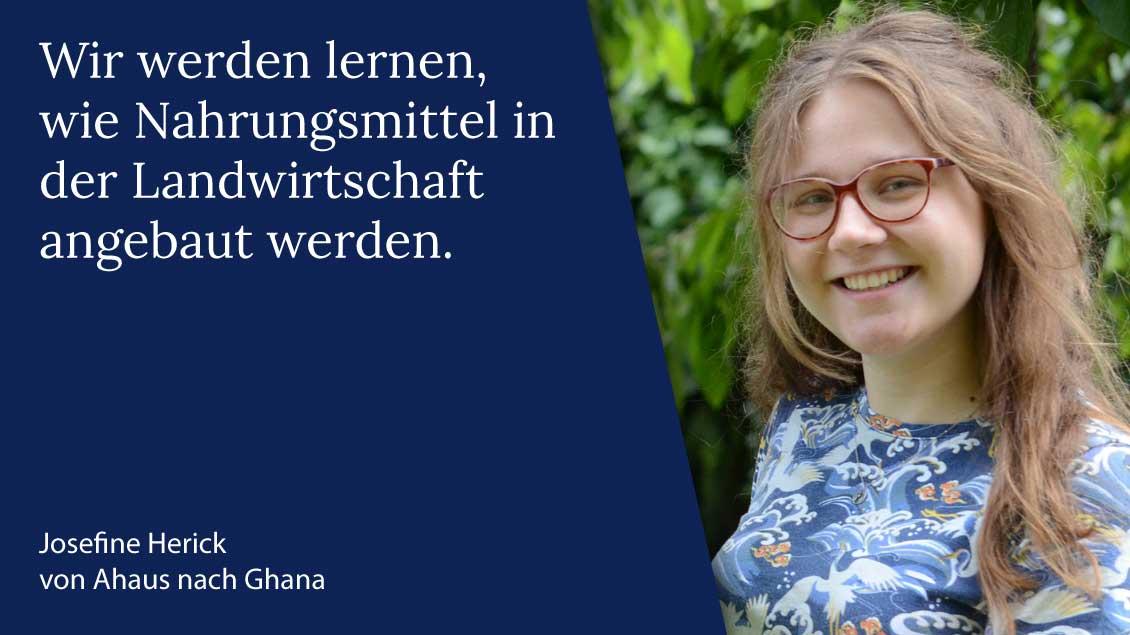 Josefine Herick aus Ahaus macht ihren Freiwilligendienst über das Bistum Münster in Ghana. | Foto: Gudrun Niewöhner (pbm)