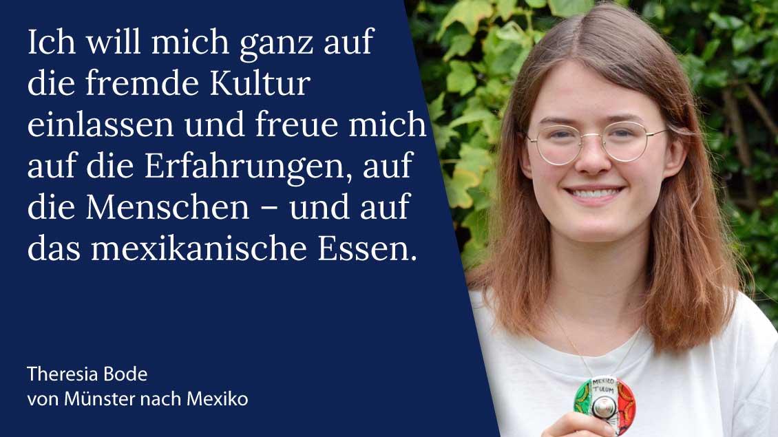 Theresia Bode aus Münster macht ihren Freiwilligendienst über das Bistum Münster in Mexiko. | Foto: Ann-Christin Ladermann (pbm)