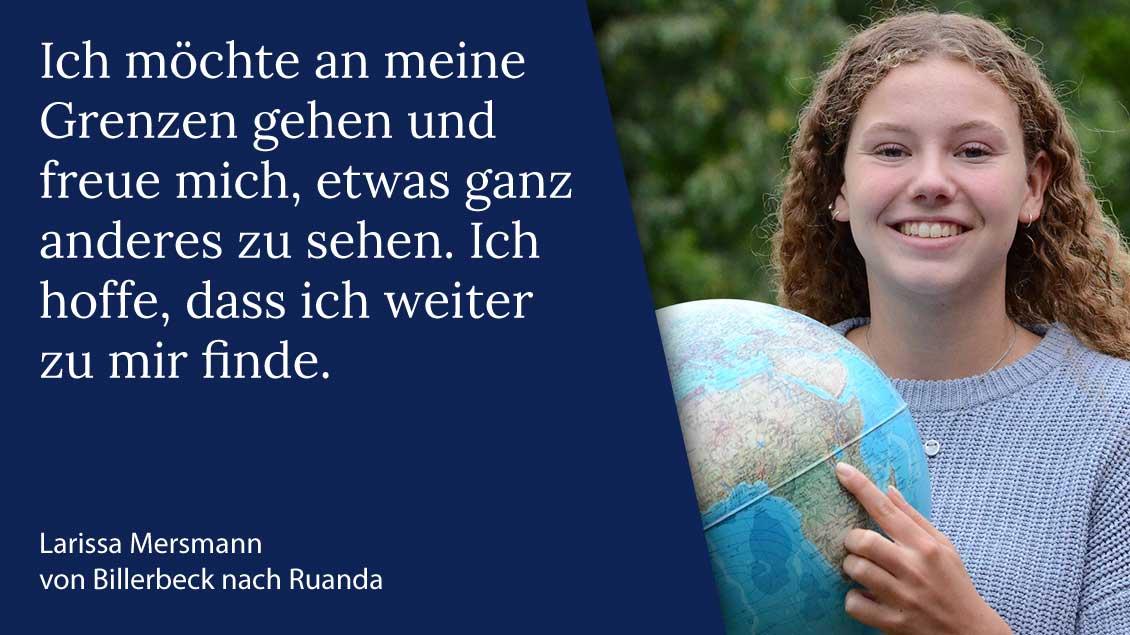 Larissa Meersmann aus Billerbeck macht ihren Freiwilligendienst über das Bistum Münster in Ruanda. | Foto: Michaela Kiepe (pbm)