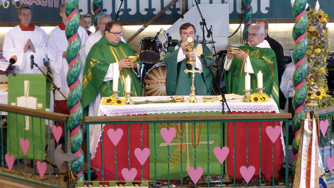 Eucharistiefeier 2015 auf dem Oktoberfest. | Foto: kath-css