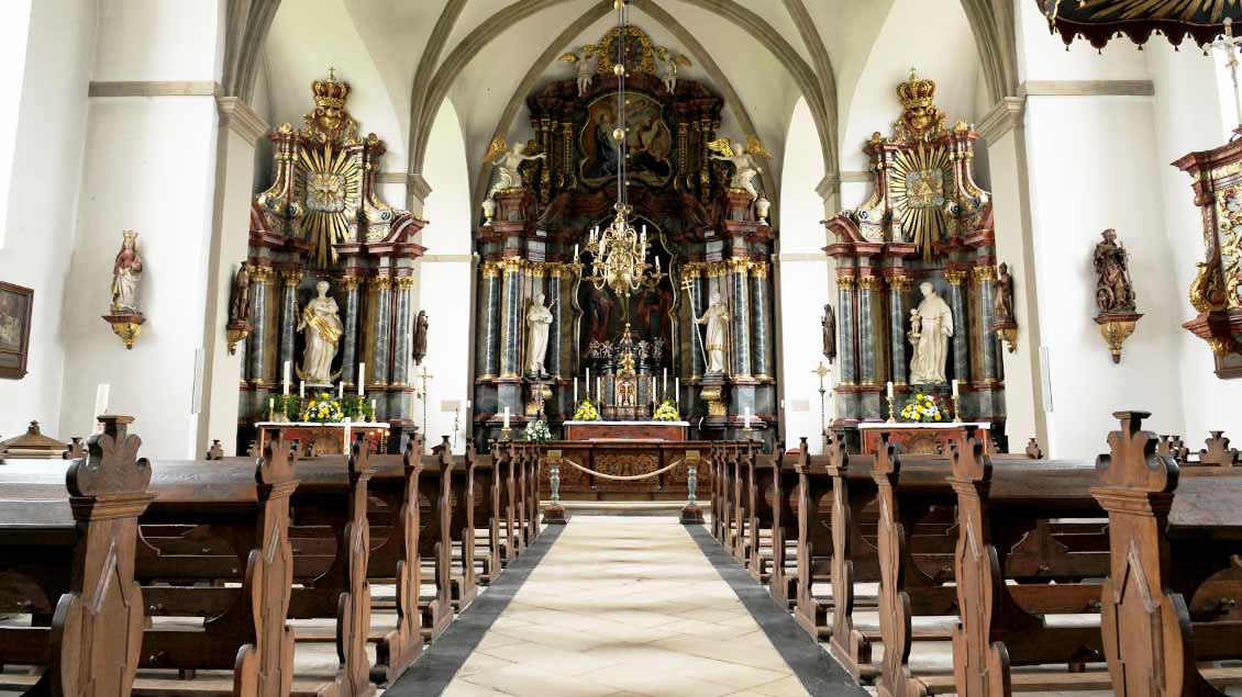 Innenansicht der Barock-Kirche in Zwillbrock.