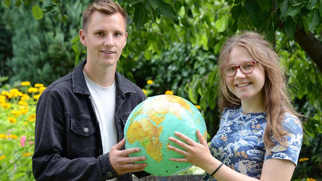 Josefine Herick und Felix Kemmer aus Ahaus starten im August mit dem Bistum Münster ihr freiwilliges soziales Jahr in Afrika. | Foto: Gudrun Niewöhner (pbm)