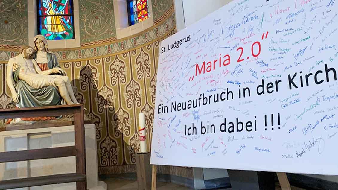 """Unterschriftensammlung zur Aktion Die Aktion """"Maria 2.0"""""""
