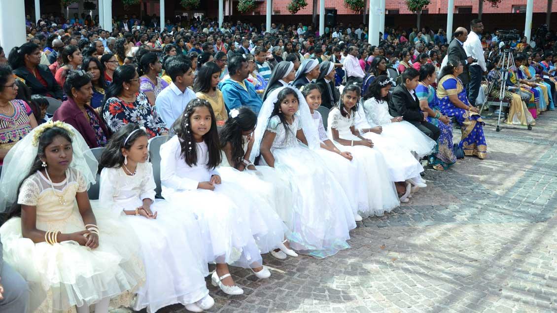 Viele Erstkommunionkinder feierten den Gottesdienst mit