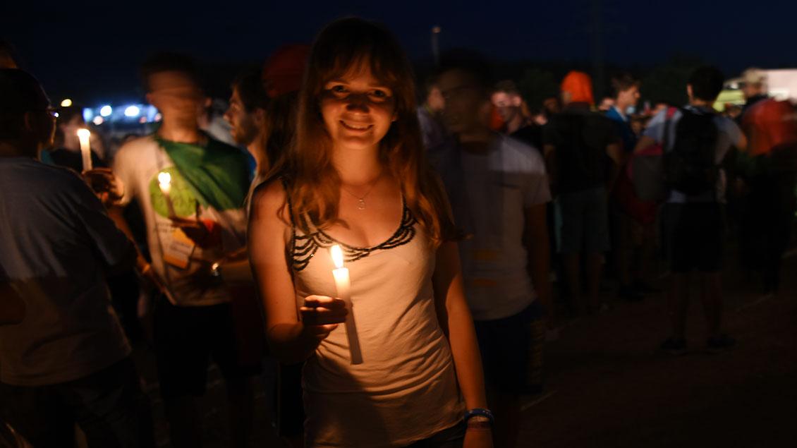 Vigilfeier beim Weltjugendtag in Krakau