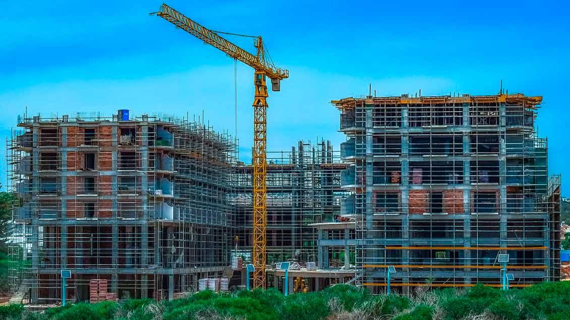Baustelle für Wohnungen