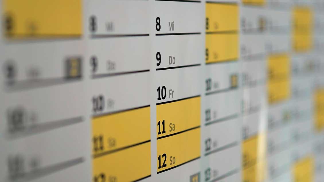 Ein Wandkalender