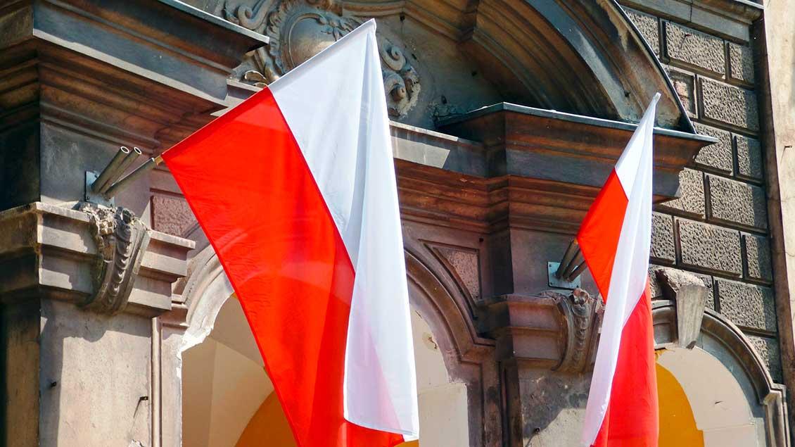 Polnische Flaggen