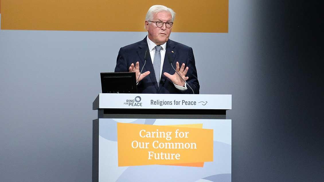 Bundespräsident Frank-Walter Steinmeier während seiner Rede.