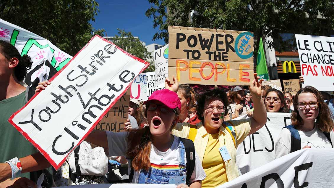 Klima-Demo von Jugendlichen