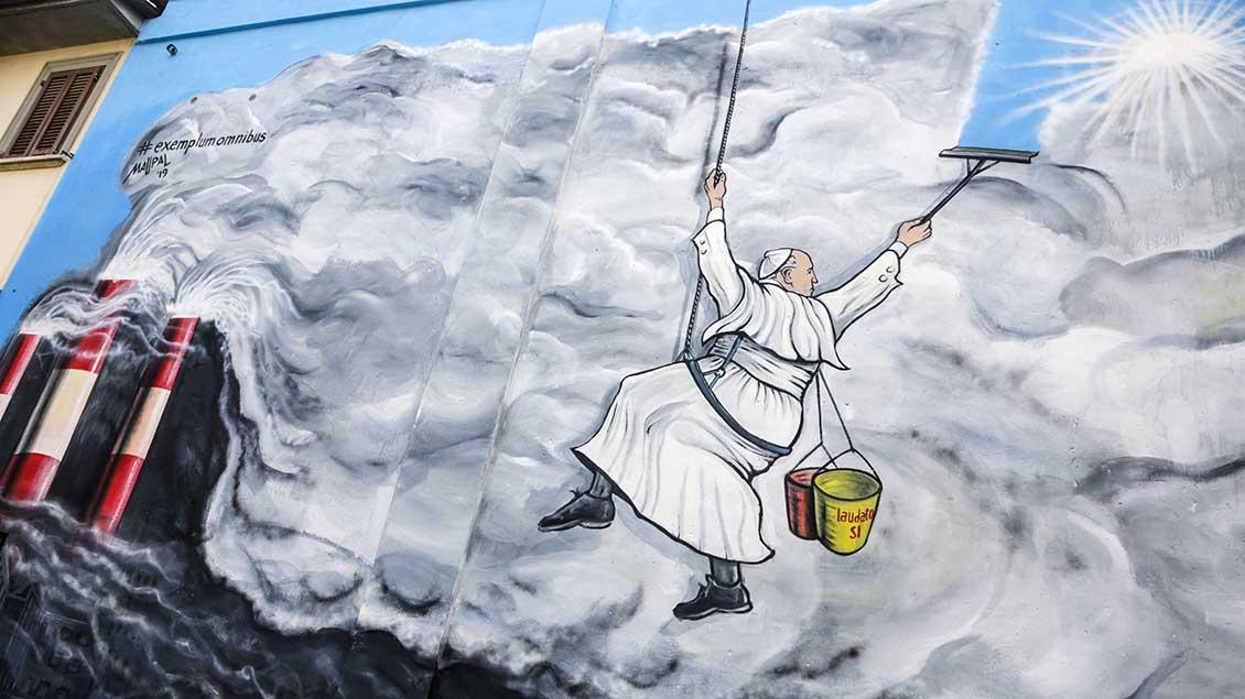 Papst-Graffito