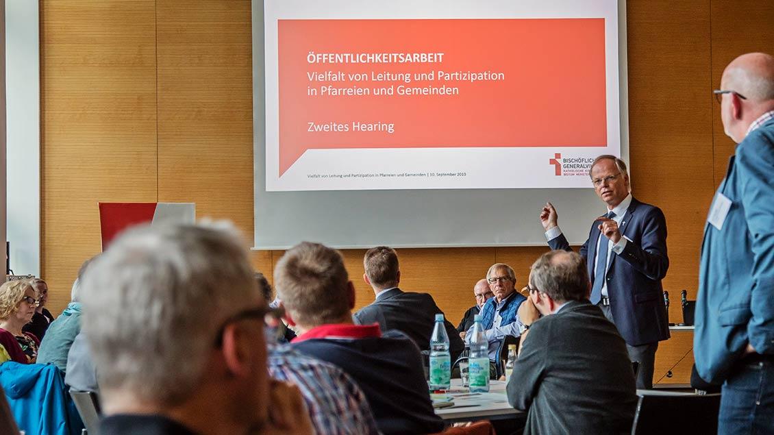 Hearing zur Gemeindeleitung in den Räumen des Diözesancaritasverbandes in Münster
