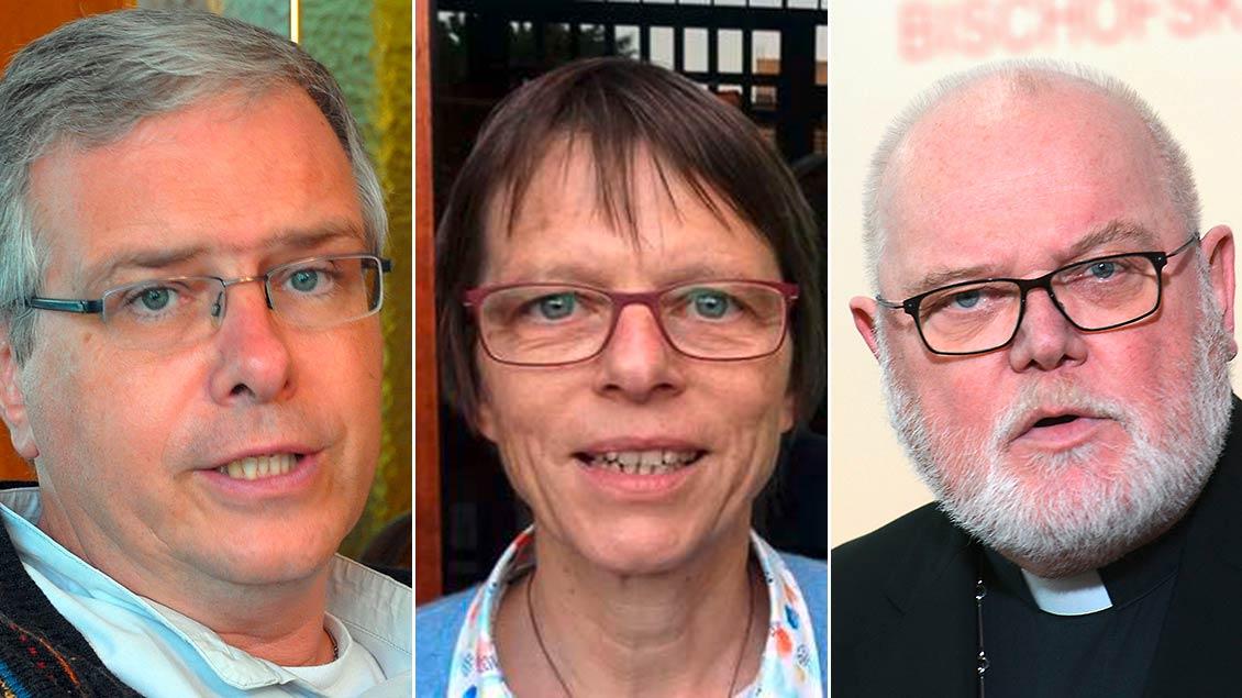 Bischof Johannes Bahlmann, Schwester Birgit Weiler und Kardinal Reinhard Marx