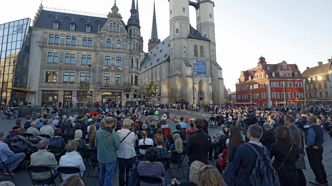 Vort der Marktkirche von Halle