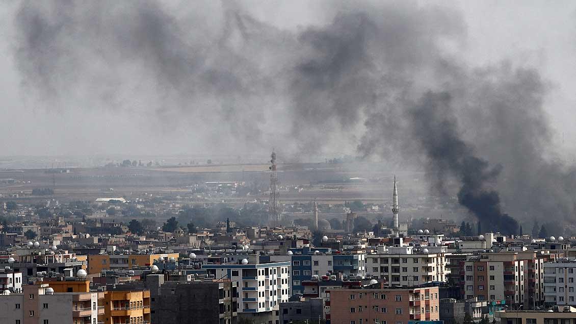 Beschuss einer Stadt in Nordsyrien