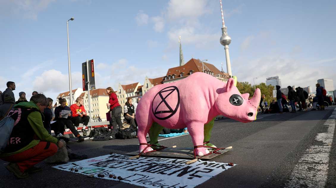 Klimaschutz-Protest in Berlin