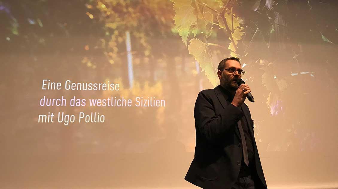 """Sven Schoppmann von """"Emmaus-Reisen"""" kündigte eine """"Genussreise"""" nach Sizilien 2020 an."""