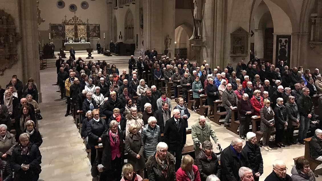 Eine festliche Messe mit Essens Bischof Franz-Josef Overbeck im Münsteraner Dom bildete den Abschluss des Jahrestreffens der Pilger- und Reisefreunde.